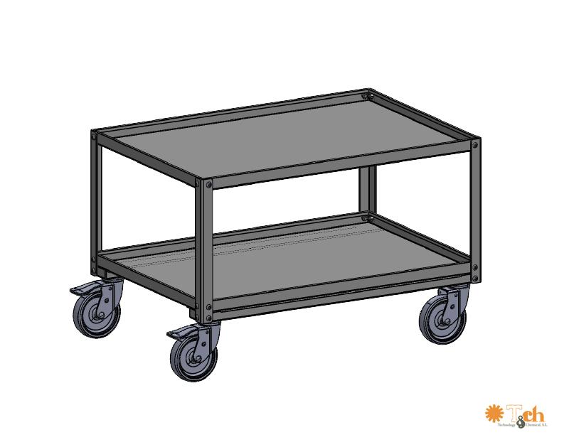 storage trolley treston tch medida