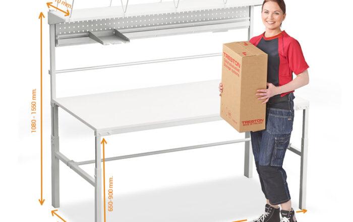 Banco de trabajo económico TPB915 TPB918 Treston packing y logística almacén