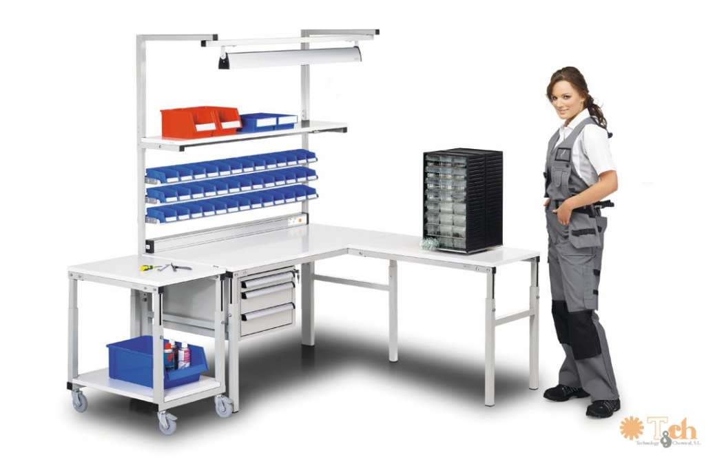 Configuración mesa TP industrial