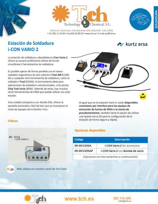 Ficha técnica i-CON VARIO 2 ersa