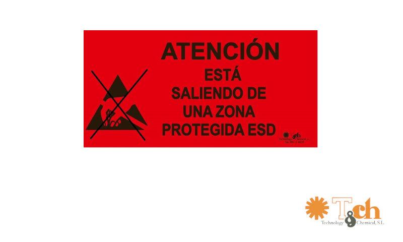 cartel señalización salida zona epa esd tch ks-315-S