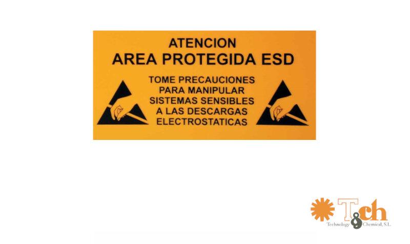 cartel señalización entrada zona epa esd tch ks-315 ks-630