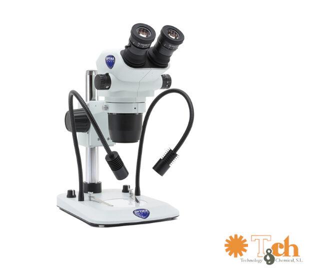 Microscopio binocular con iluminación optika tch szo-5