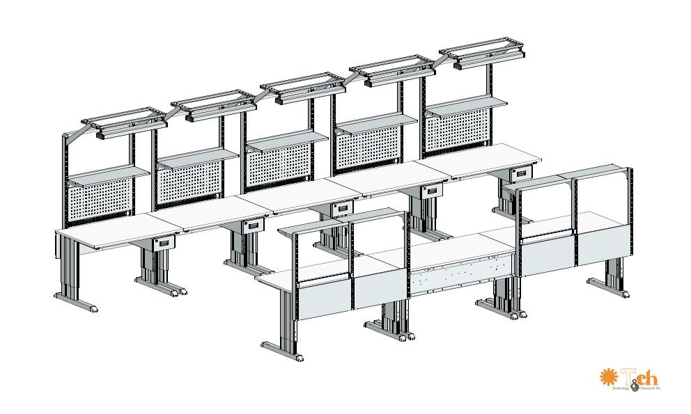 Sistema de mesas de trabajo para taller industrial treston tch