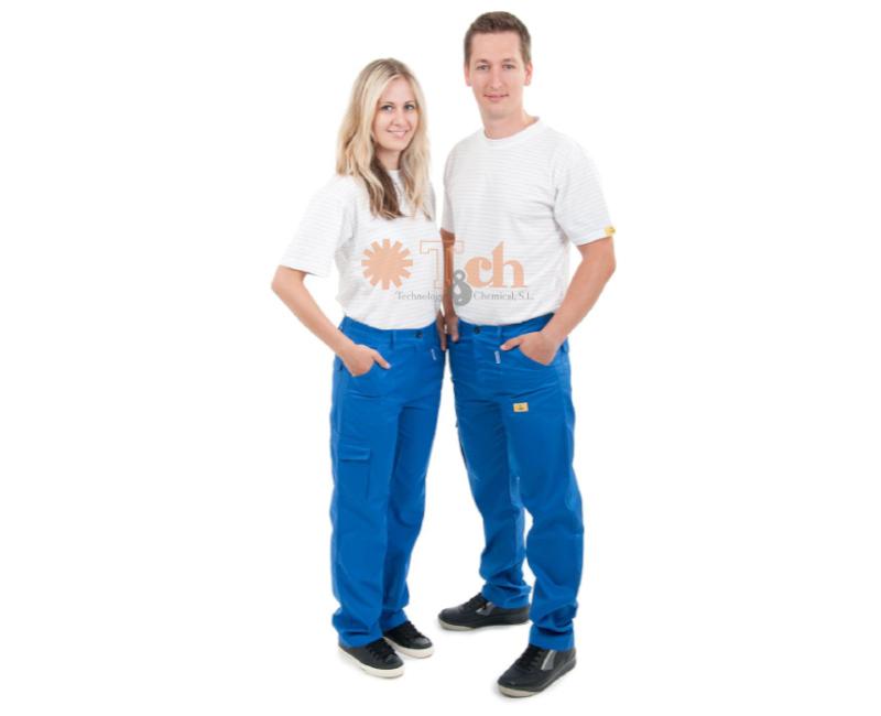 PT-445-L pantalón largo azul ESD tch cleantex