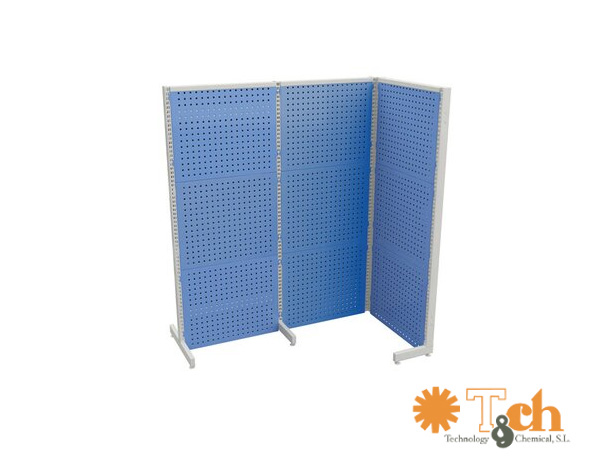 paneles perforados pantallas industriales