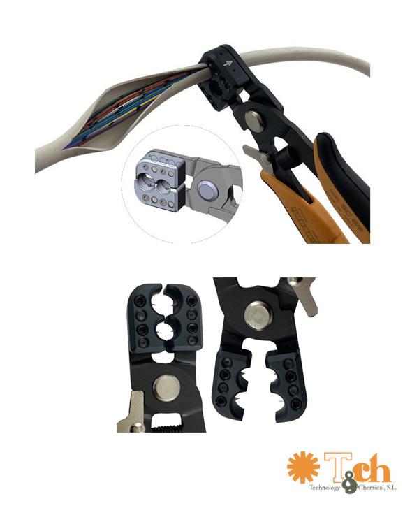 Alicates pelacables para fibra óptica piergiacomi