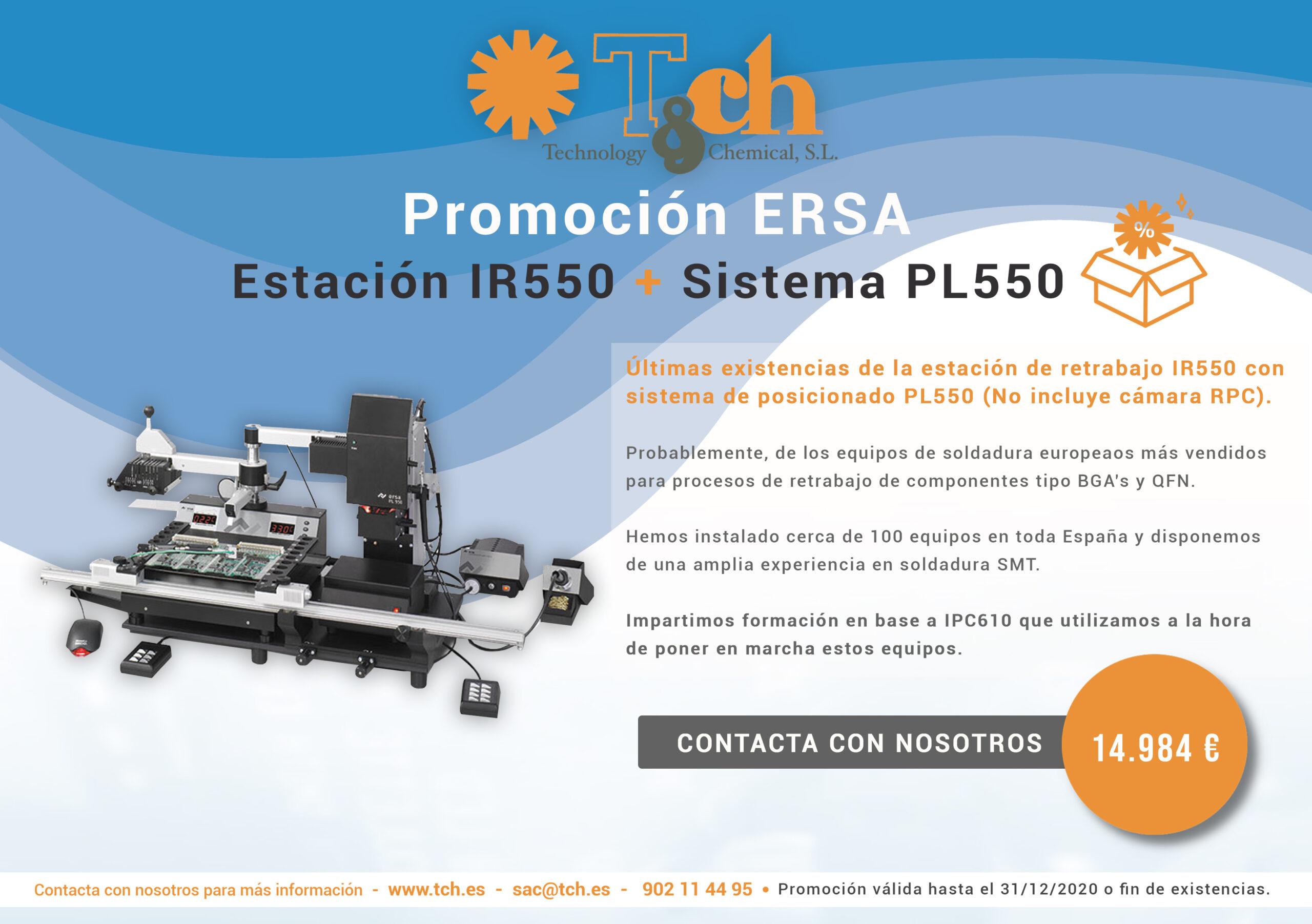 Promoción ERSA estación de retrabajo IR550 con sistema de posicionado PL550