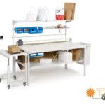 Mesas de almacén ajustables en altura