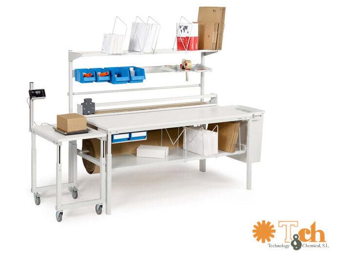 mesa de almacén ajustable en altura TPB