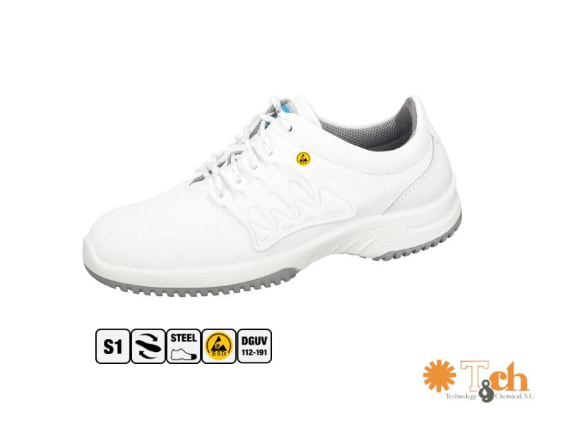 zapatos deportivos antiestáticos blancos abeba