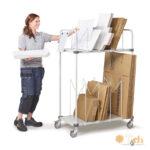 Carros para el almacenamiento y transporte de cartón