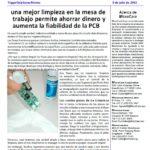 Mejoras en limpieza de PCBs