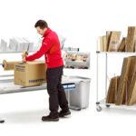 Mesa motorizada para packing y logística