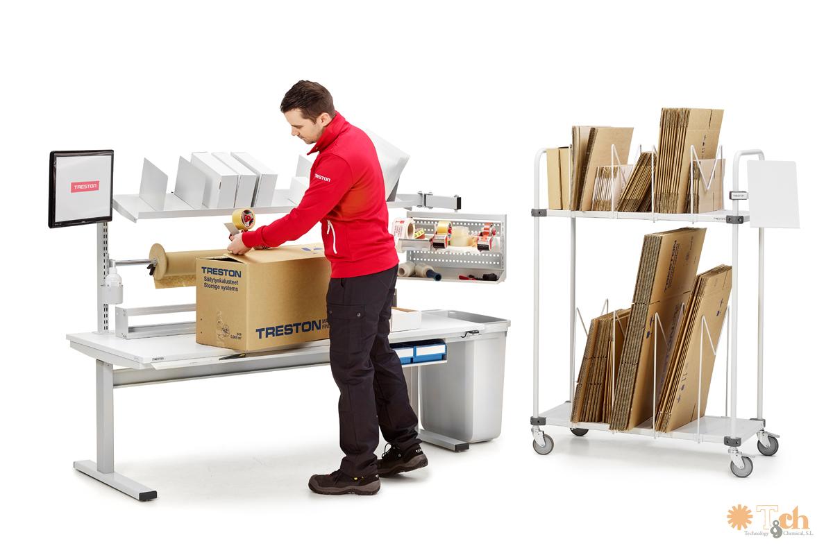 mesa motorizada empaquetado y almacén TED treston tch