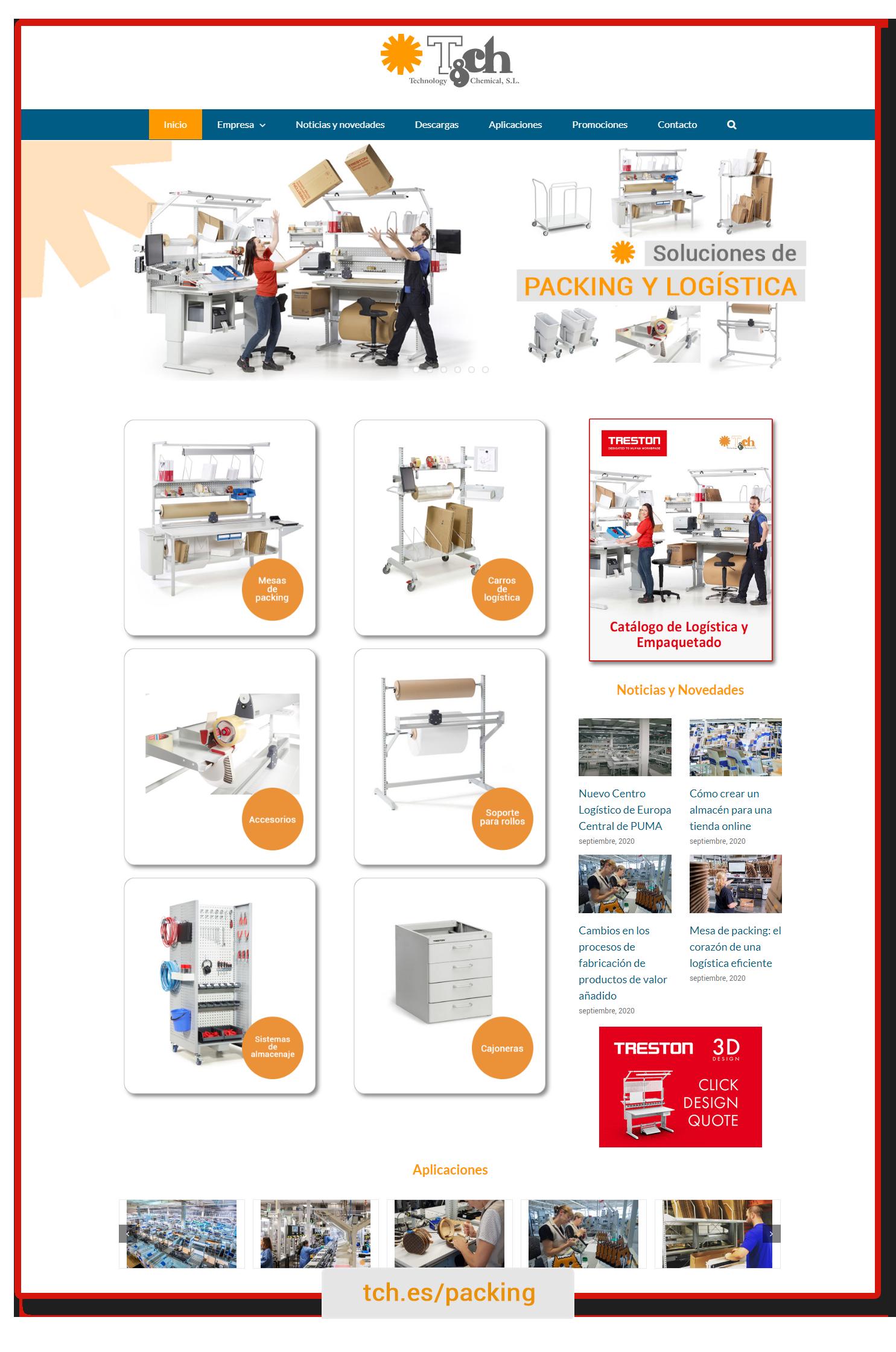 Página packing y logística TCH