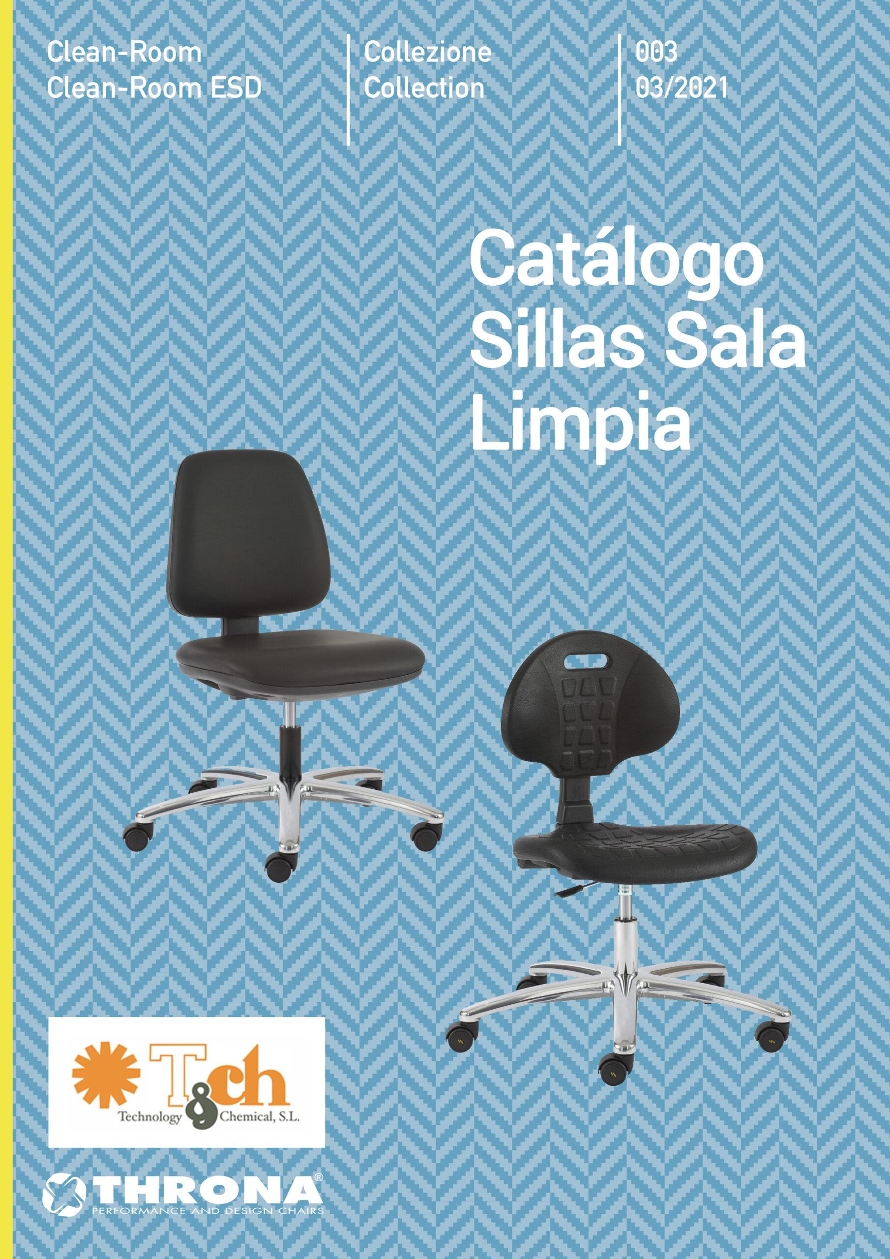 catálogo sillas sala limpia throna tch